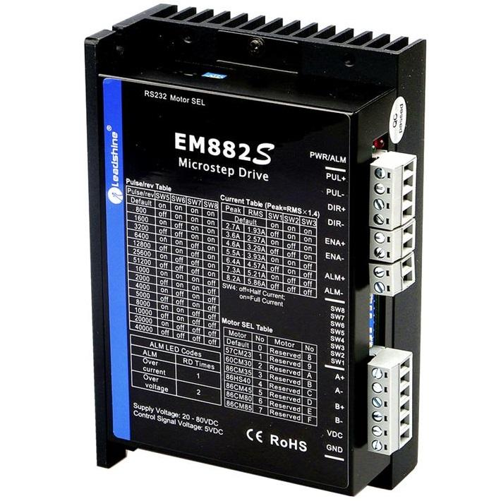 52051 advanced digital stepper drive em882s 80v 82a 2phase