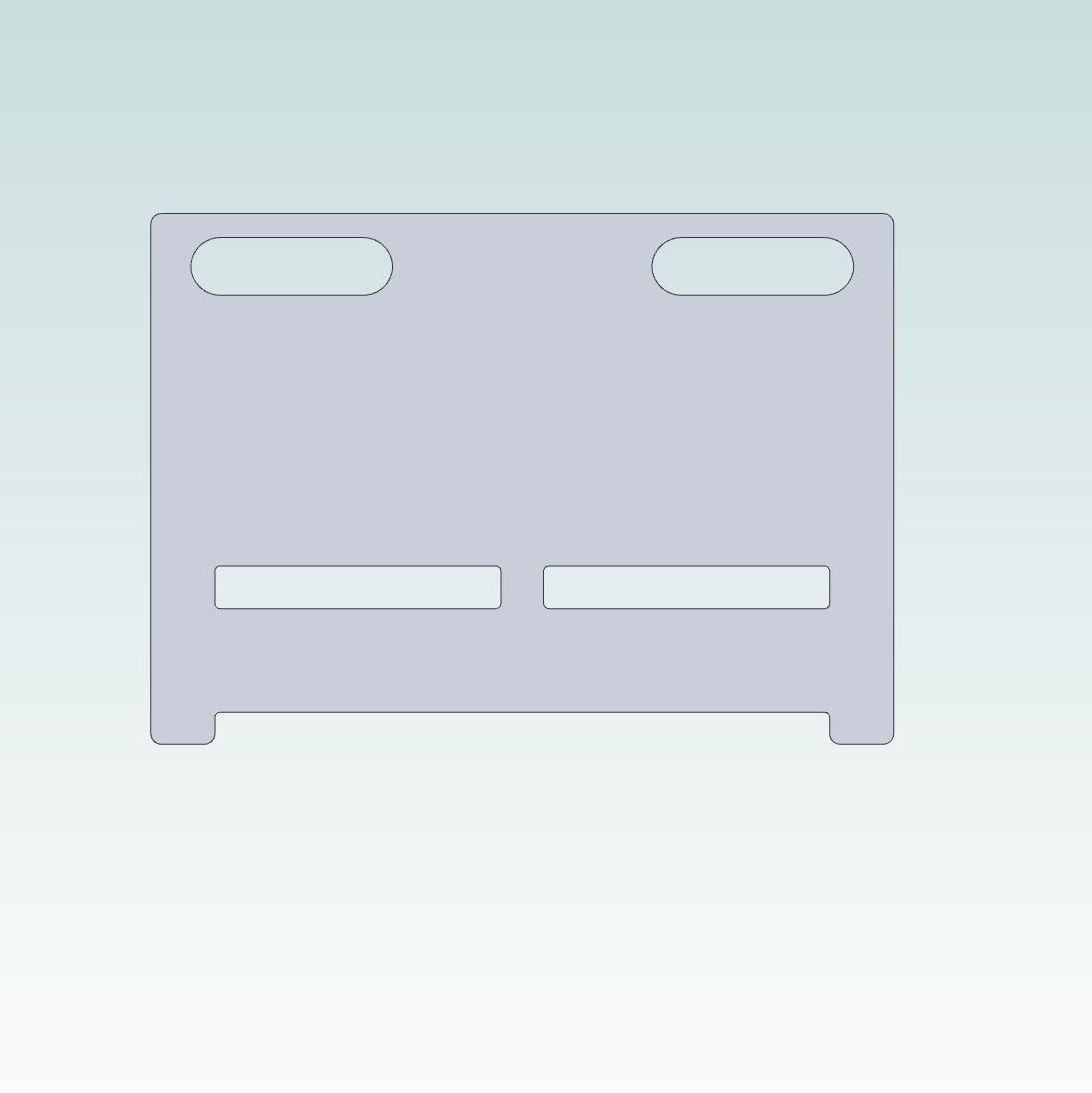 52091 emc shield plate for delta vfde frame abc