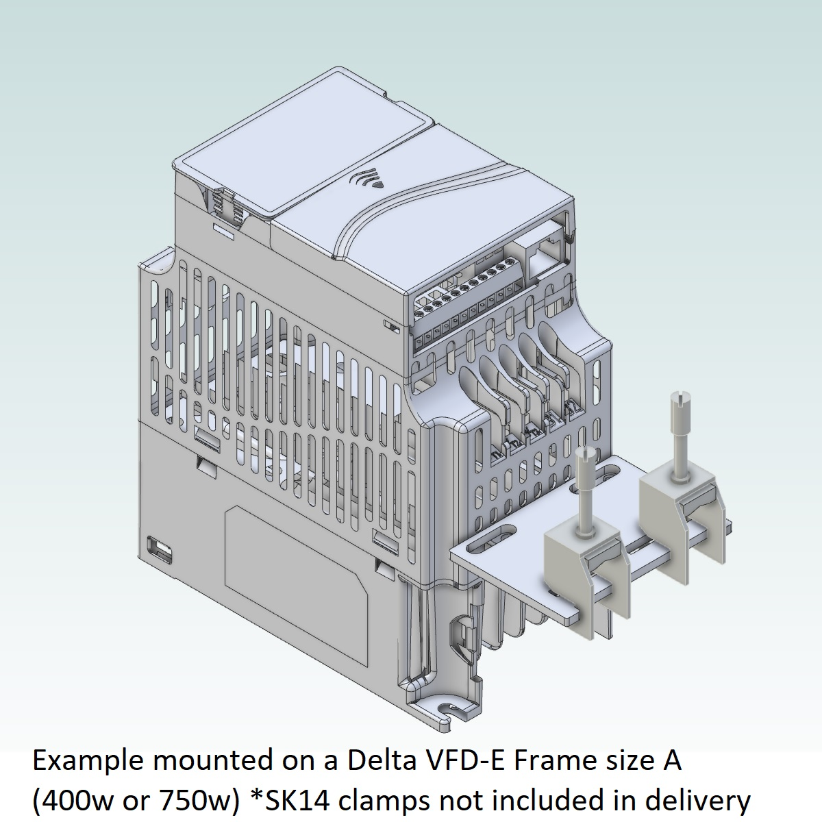 52093 emc shield plate for delta vfde frame abc frame a 3d