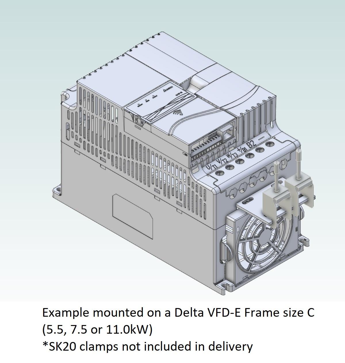52094 emc shield plate for delta vfde frame abc frame c 3d
