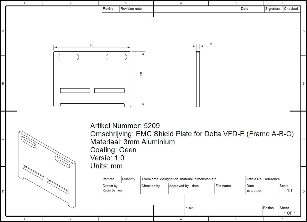 52096 emc shield plate for delta vfde frame abc 2d dimensions