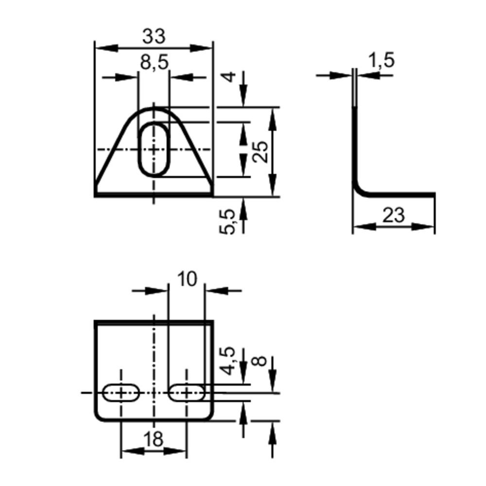 53092 angle bracket for m8 sensors e10734 2d dimensions