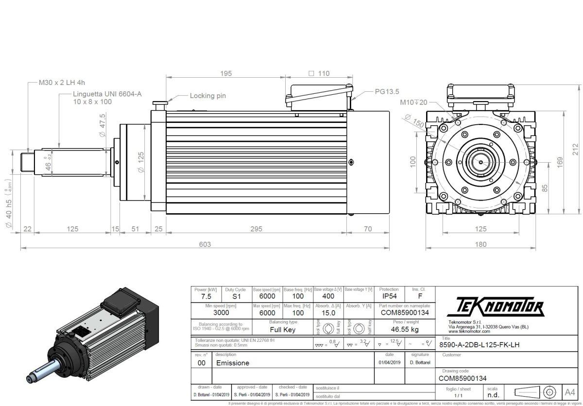 55092 c8590a2dbl125fk75kwlh 60009000rpm 2d dimensions