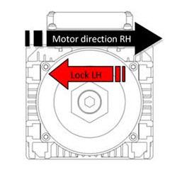 55095 c8590a2dbl125fk75kwlh 60009000rpm motor direction rh lock lh