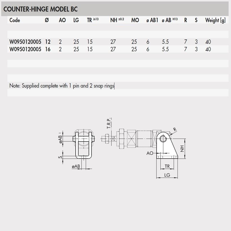 55582 w0950120005 counterhinge model bc for 1216 bore iso6432 2d dimensions