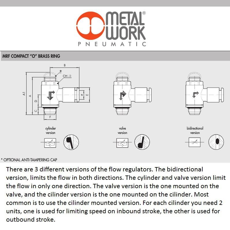 55993 9001005c 8x18 cilinder mrf o brass flow regulator m