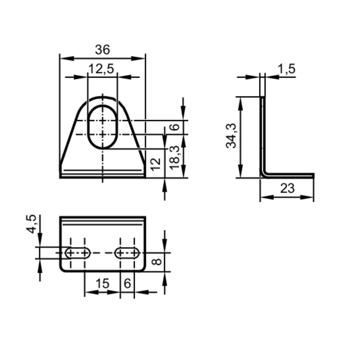 56122 angle bracket for m12 sensors e12488 2d dimensions