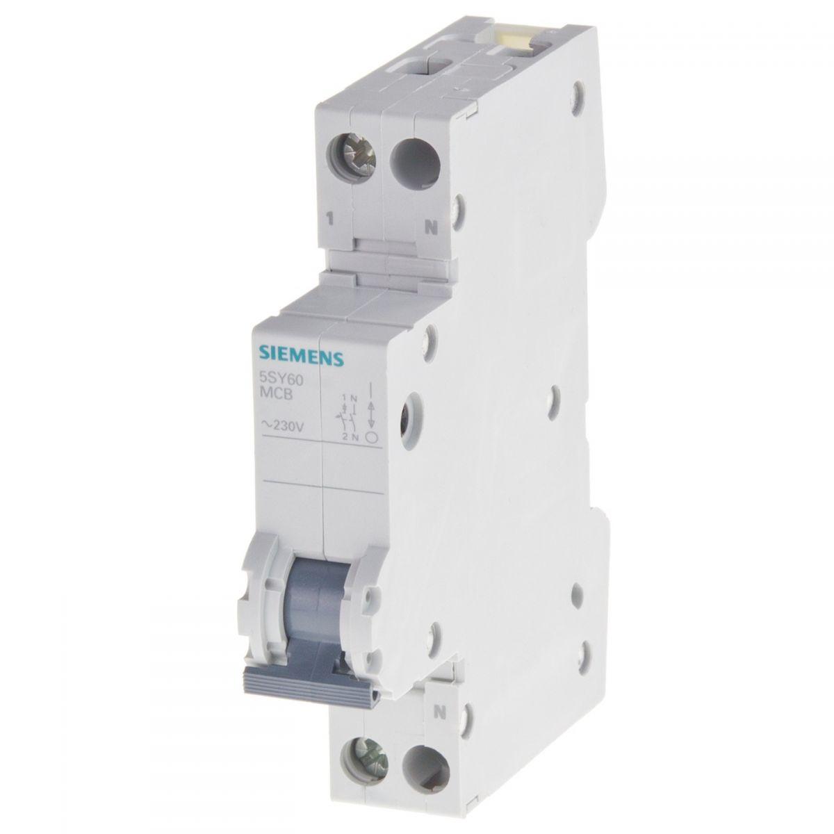 6amp 1pn circuit breaker siemens 5sy60067