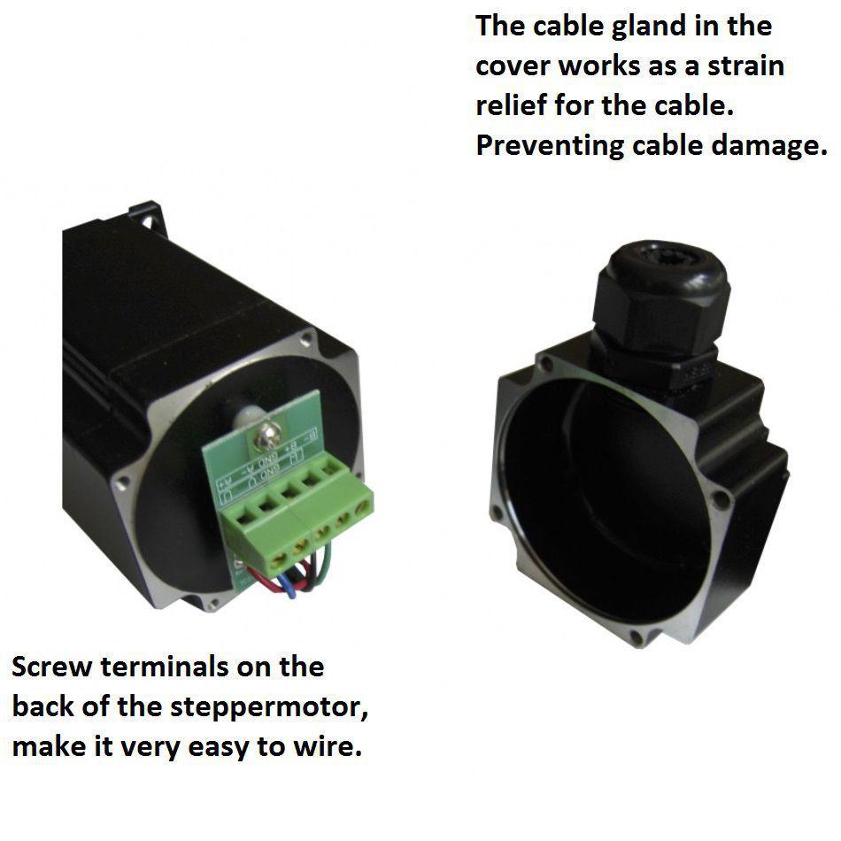 7512 dcncnema23 25nm ip54 screw terminals on back of motor