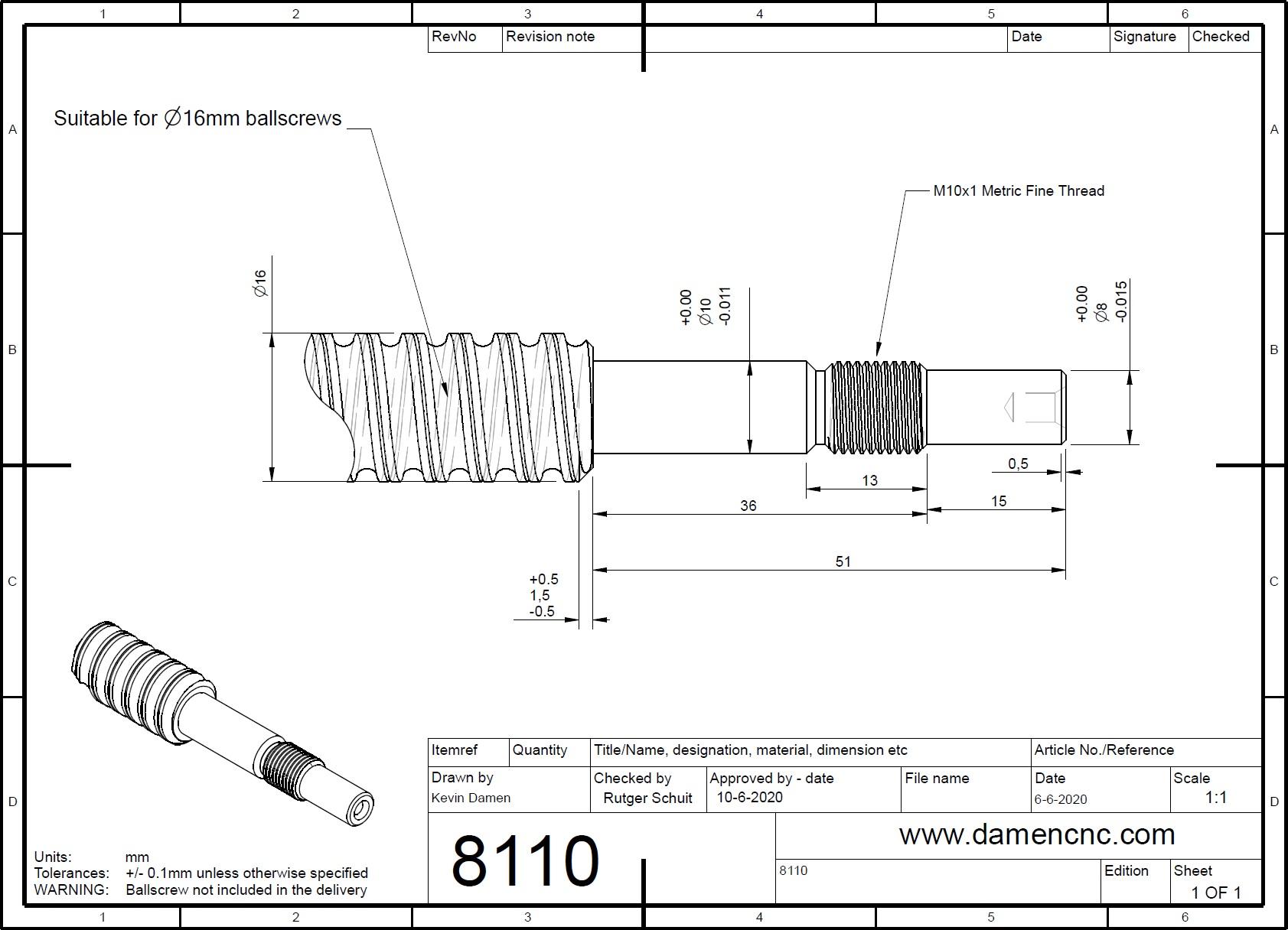 81102 bkfk 10 ballscrew end machining fixed side 2ddimensions