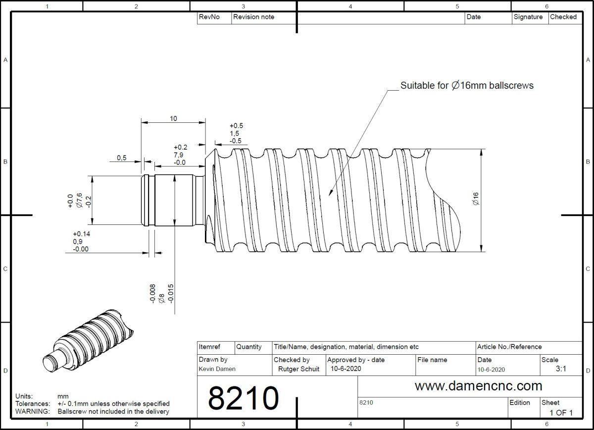82102 bfff 10 ballscrew end machining floating side 2ddimensions