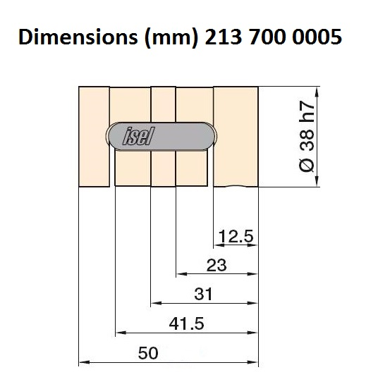 8393 isel 25mm ballnut variant 3 pitch 5mm 213 700 0005 dimensions