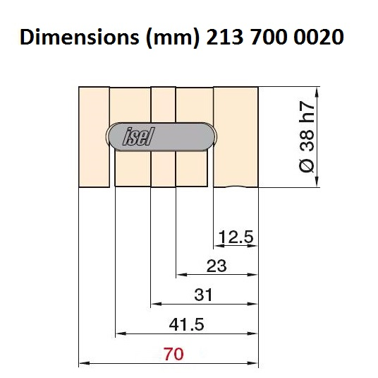8413 isel 25mm ballnut variant 3 pitch 20mm 213 700 0020 dimensions