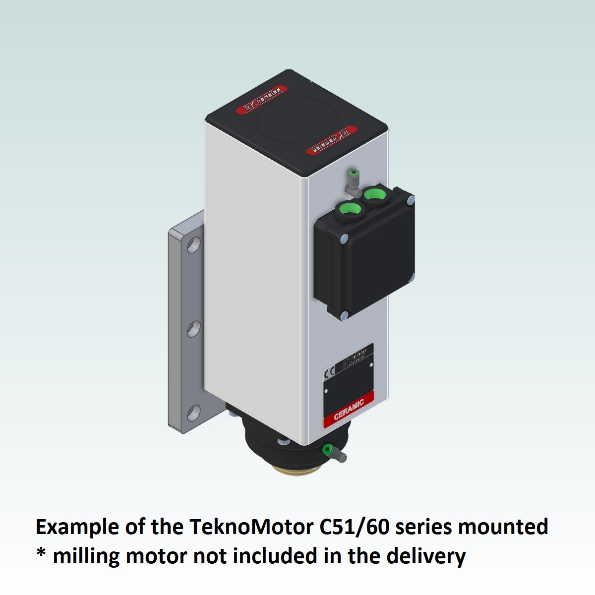 8993 teknomotor mountplate for 40x160 profile with c5160 mounted