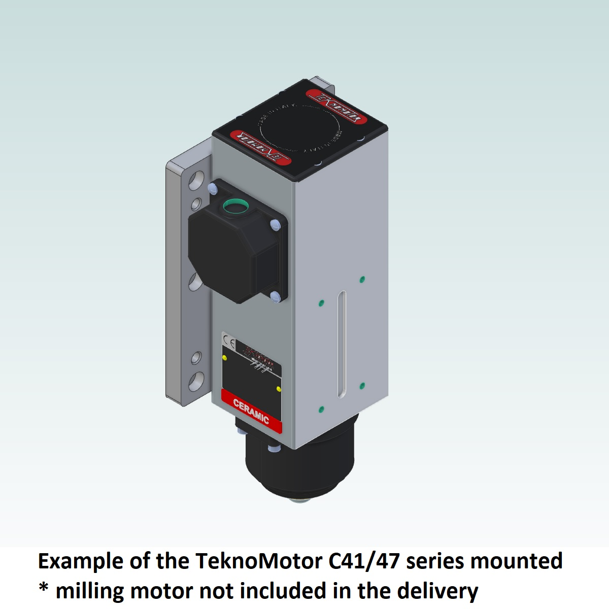 8994 teknomotor mountplate for 40x160 profile with c4147 mounted