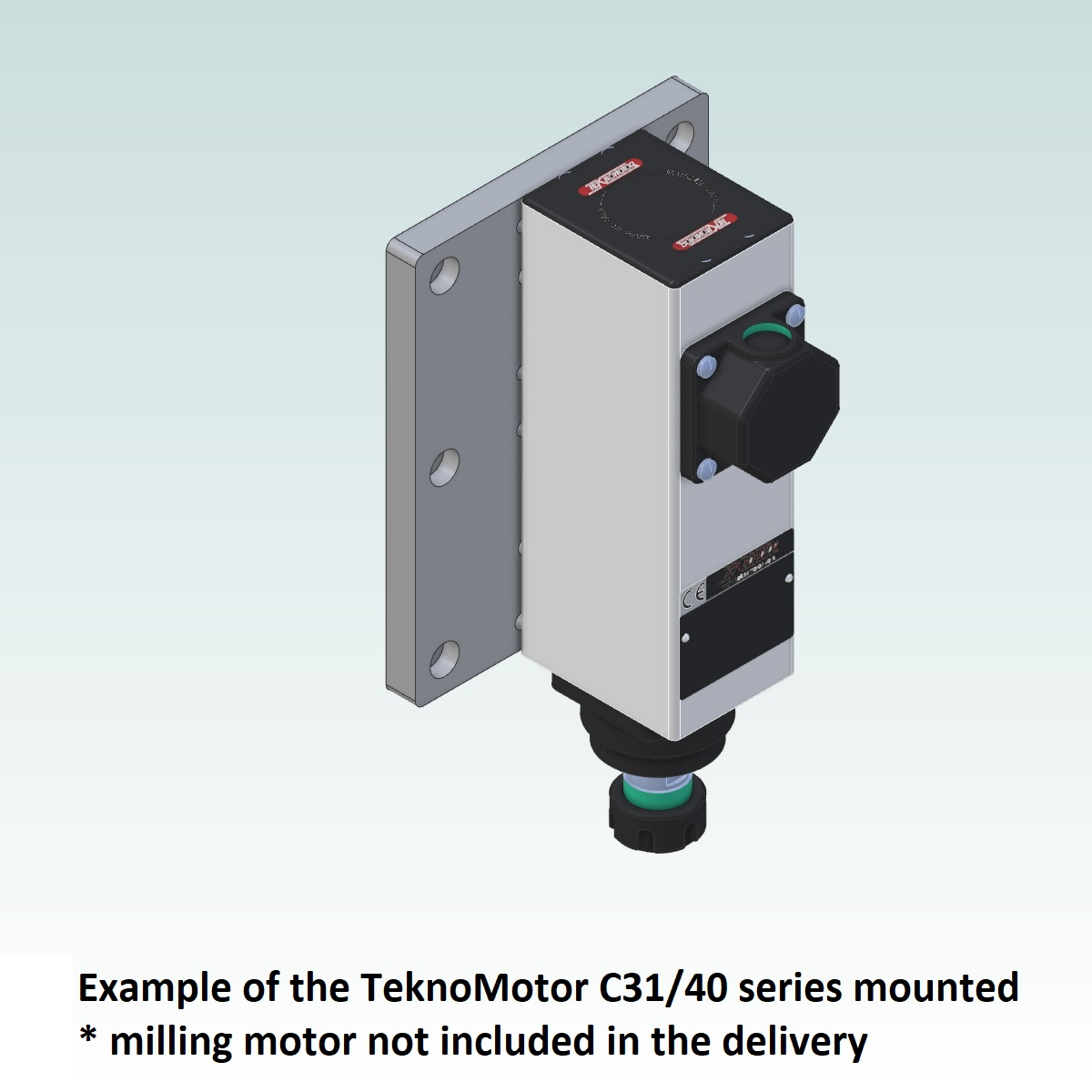 8995 teknomotor mountplate for 40x160 profile with c3140 mounted