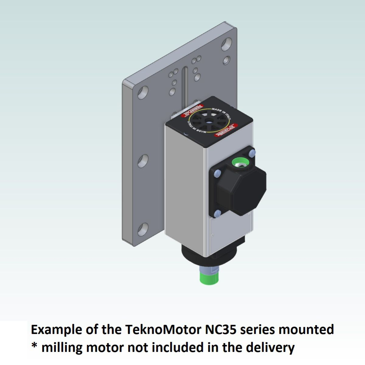 8996 teknomotor mountplate for 40x160 profile with nc35 mounted