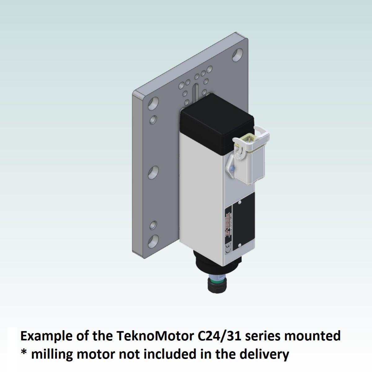 8997 teknomotor mountplate for 40x160 profile with c2431 mounted