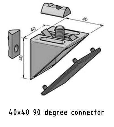 90 degree angle connector 40x40