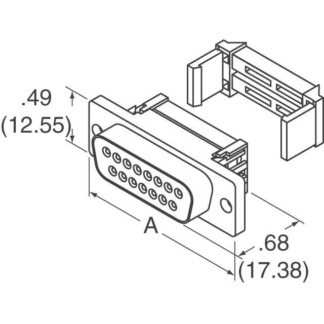 9472 26 poleribbon to 25 pole dsub connector female dimensions
