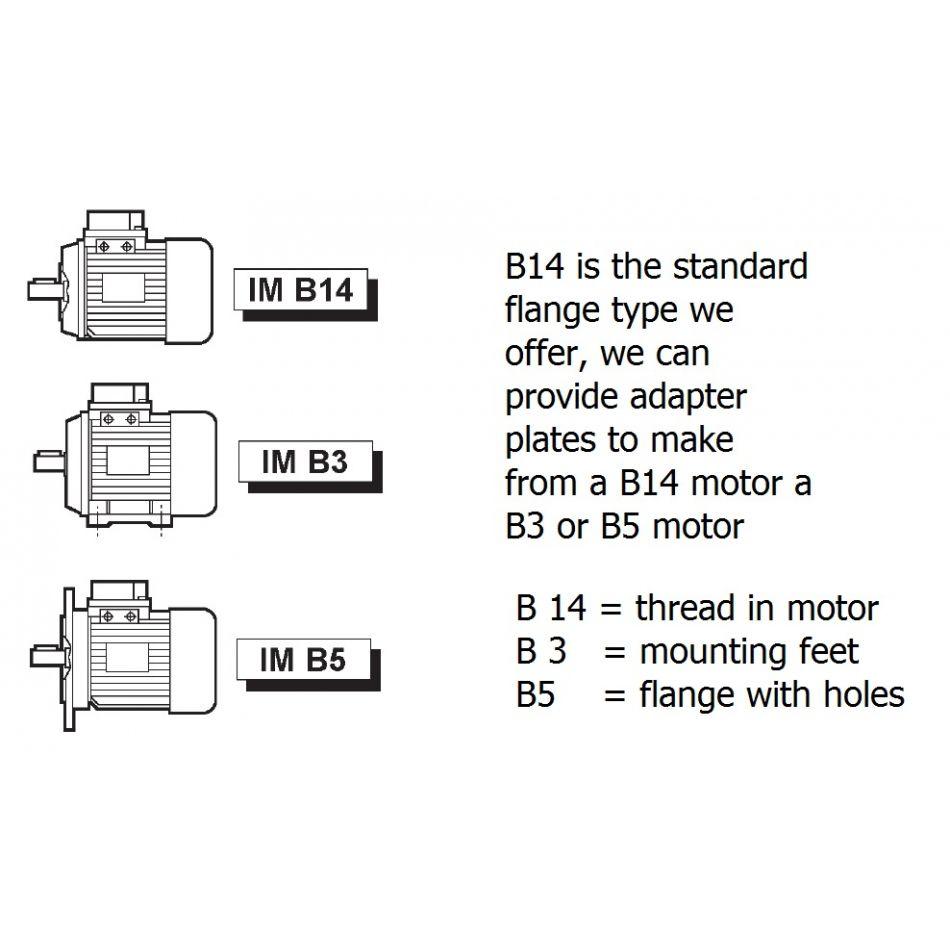 ac motor tn80b 4 pole 075kw 1500rpm b14 flange