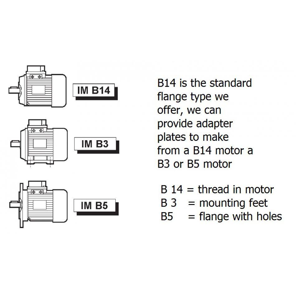 ac motor tn90l 4 pole 15kw 1500rpm b14 flange