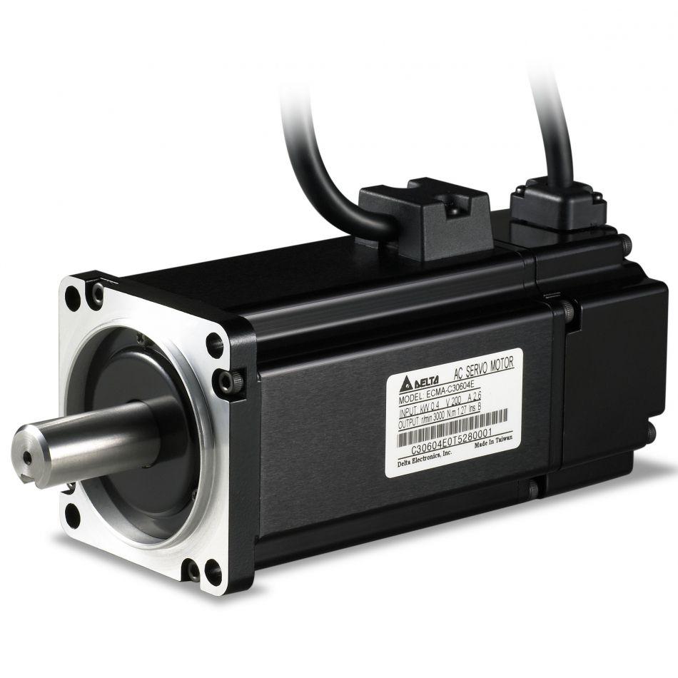 ac servo motor 100w with brake ecmac20401ss