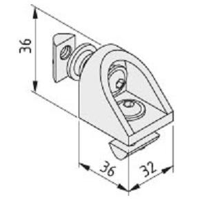 adjustable angle connector 40x40