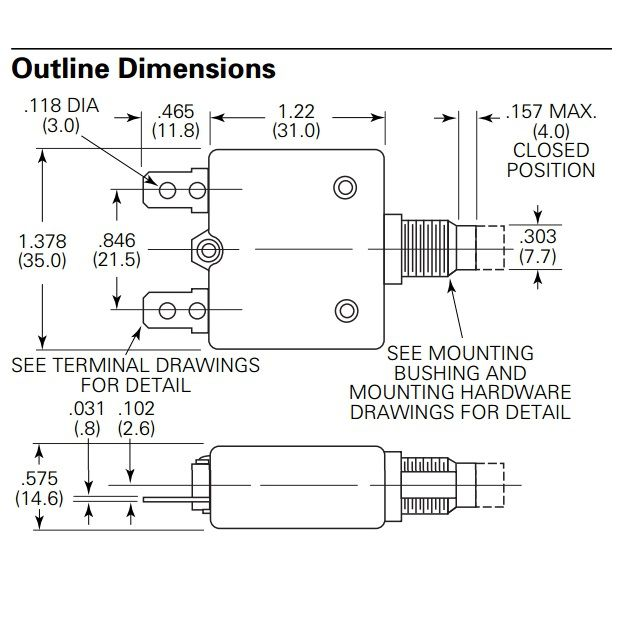 automatic fuse 10a panel mount