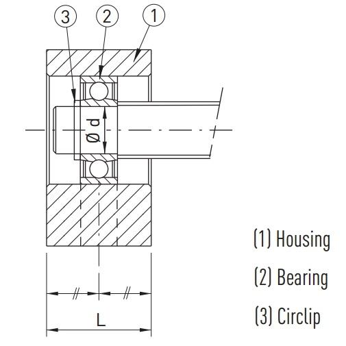 bf30c3 floating ballscrew support unit