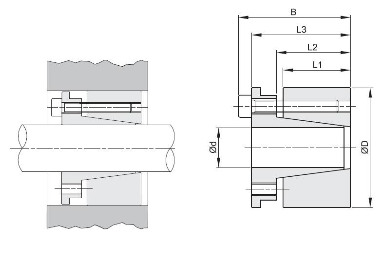 bk70 locking assemblie bk70 d x d x 20x47 lt46mm