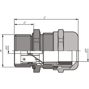 cable gland m16x15 skintop msscm