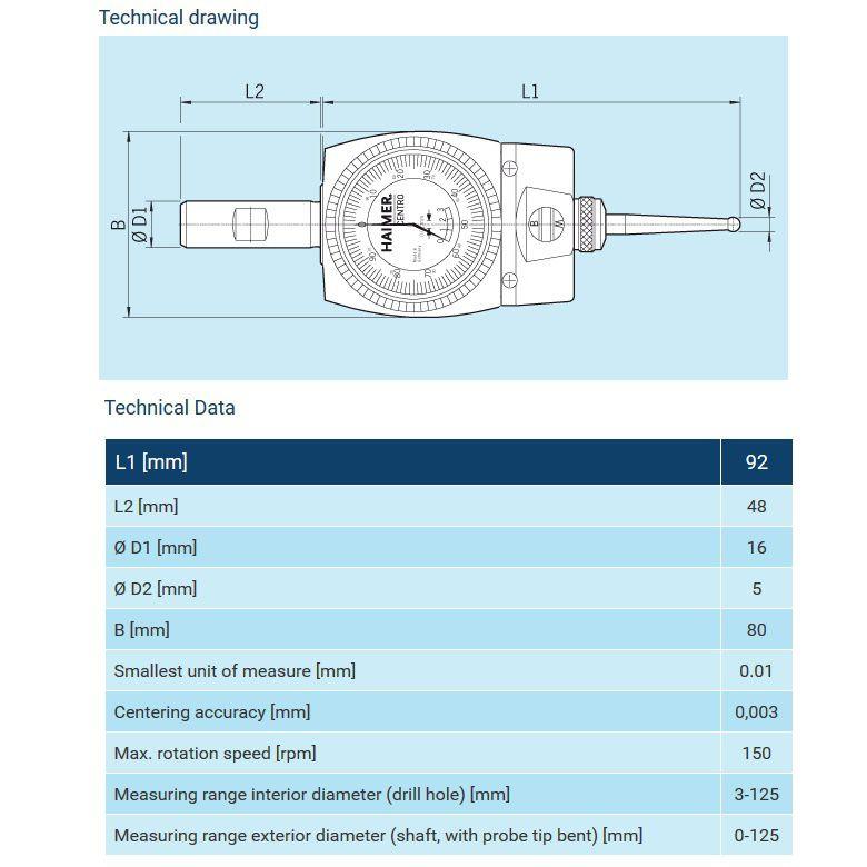 centro precision centering device 8030000fhn
