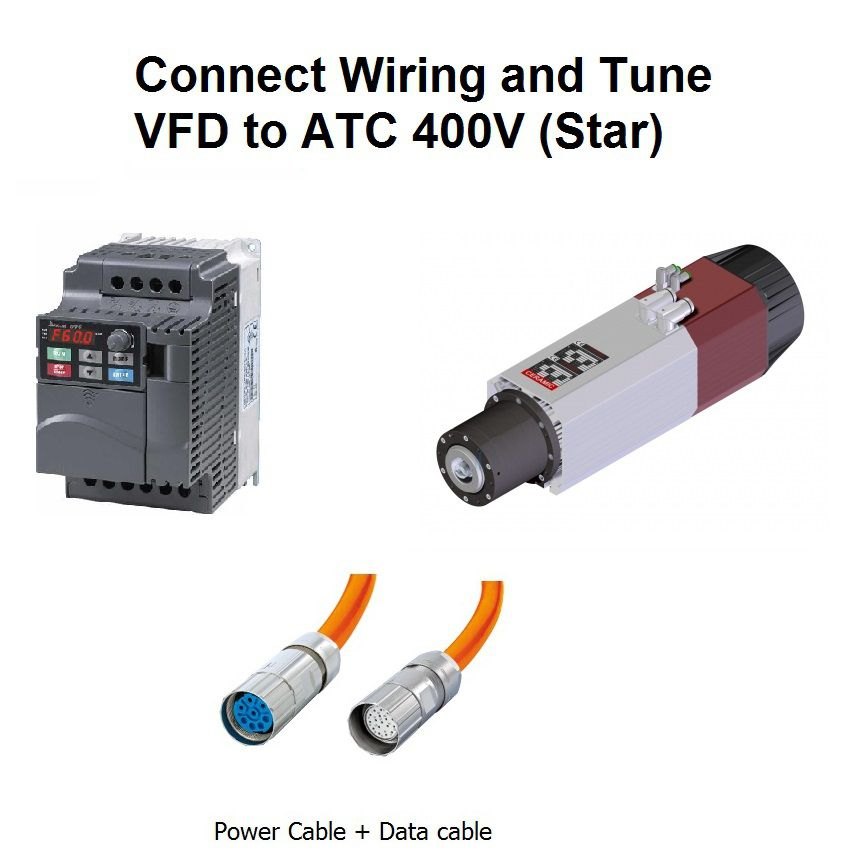 connect wiring and tune vfd to atc 400v