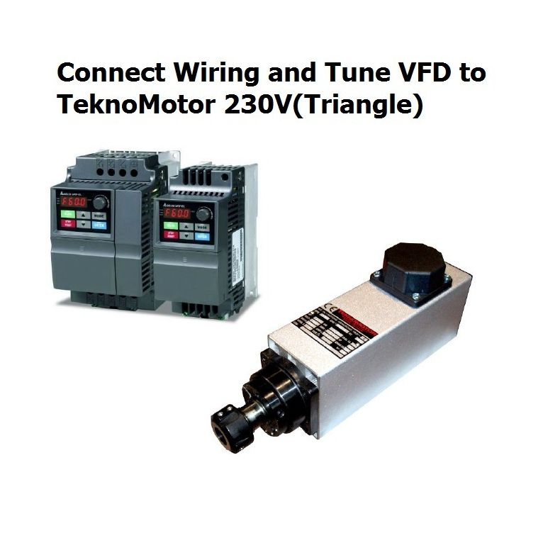 connect wiring and tune vfd to teknomotor 230v triangle