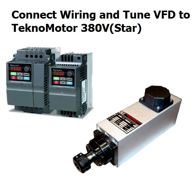 connect wiring and tune vfd to teknomotor 380v star