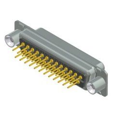 dsub female pcb connector 25pins with 440unc thread spacer