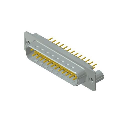 dsub male pcb connector 25pins with 440unc thread spacer