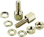 D-SUB Mount Screw Set (2 pieces +nuts )