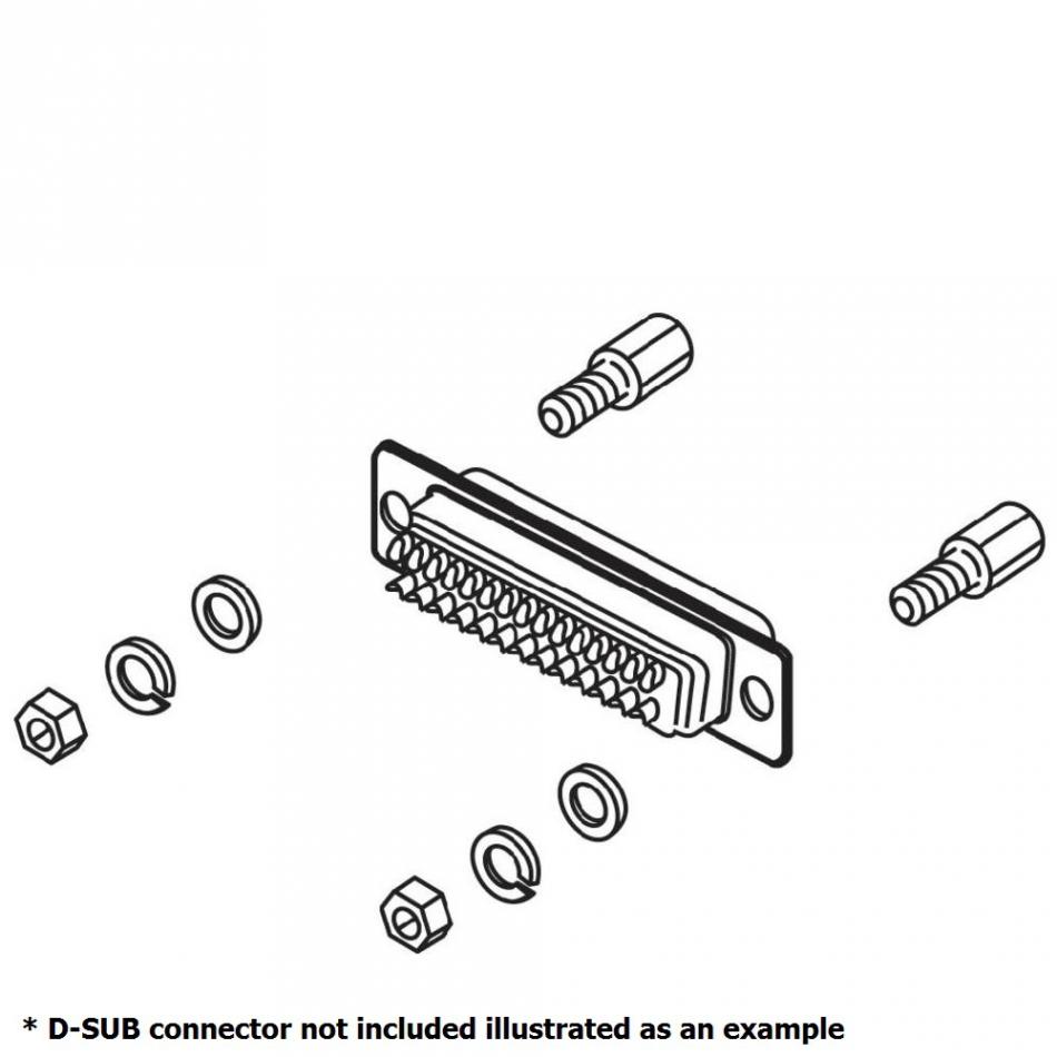 dsub mount screw set 2 pieces nuts