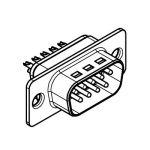 D-SUB (solder cups) 9Pole MALE