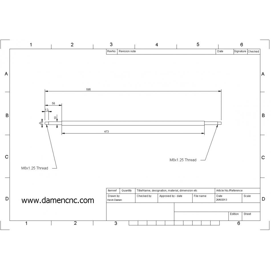 dcnc bf20 x axis ballscrew set