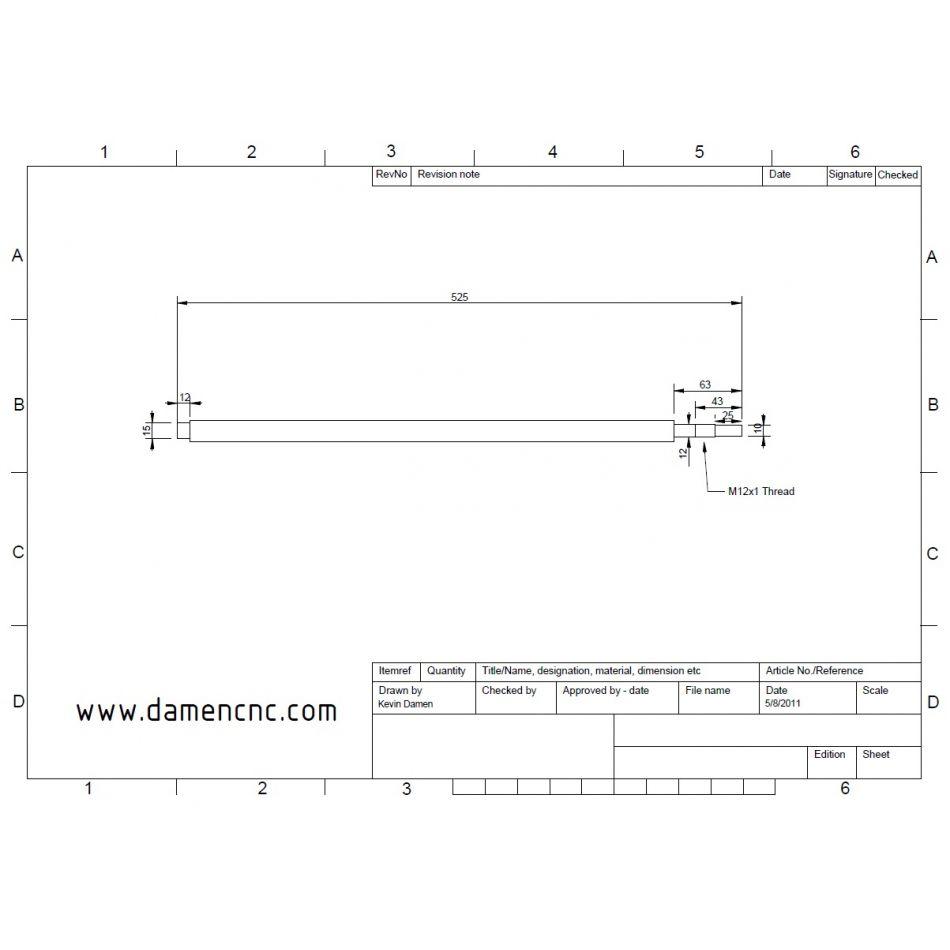 dcnc bf20l z axis ballscrew set