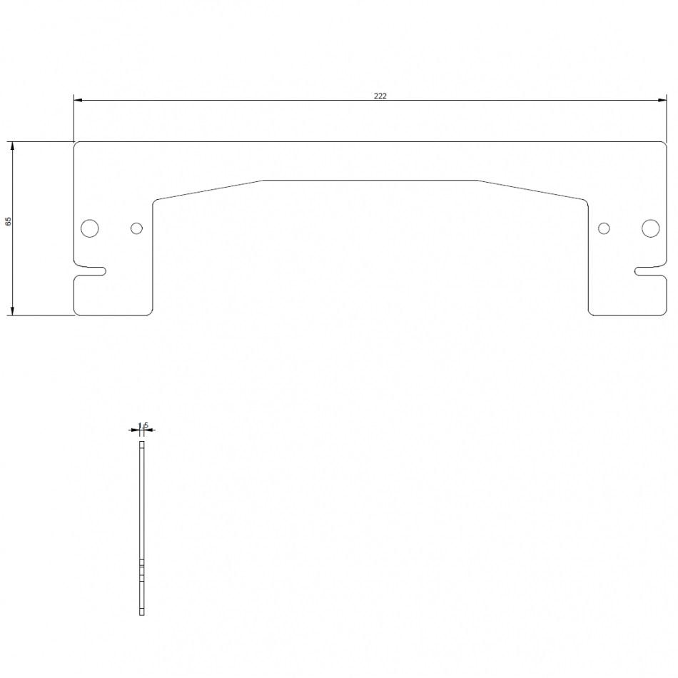 dcnc lsm 40x160l bellow mountplate inside