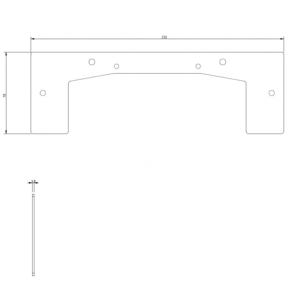 dcnc lsm 40x160l bellow mountplate outside