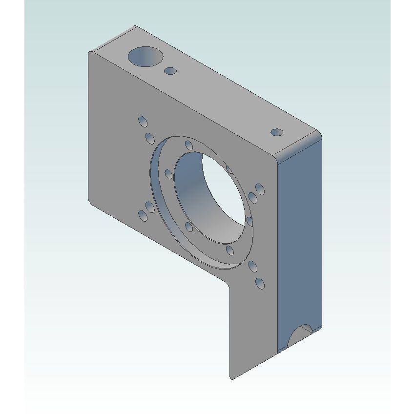 dcnc lsm 80x80l bearingplate for 25mm ballscrew v2