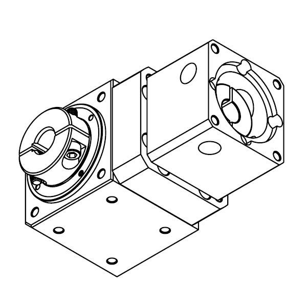 dcncragf70 i20 right angle gearbox 60x60mm