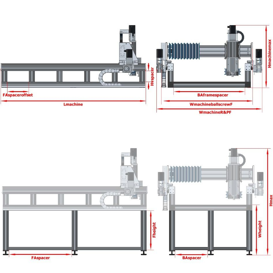 dcnc router frame 4700x3600x200mm