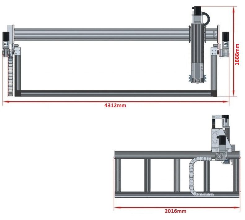 dcnc router kit 1700x3600x500mm