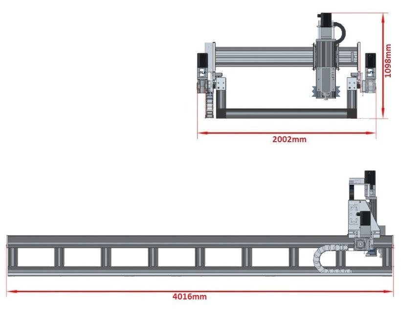 dcnc router kit 3700x1290x200mm